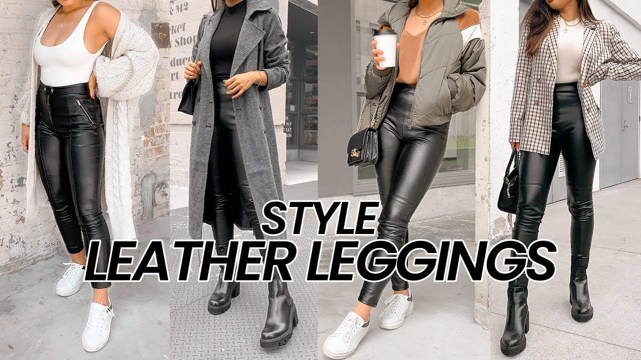 How to Style Leather Pants/ Leggings for Fall 2020 | Alegria Jimenez