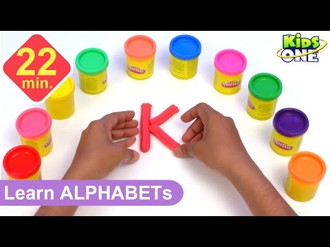 Play and Learn ALPHABETS with Play Doh for Children | Play-d