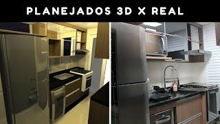 Comparação: Planejados versão 3D X versão Real
