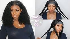 Most Realistic Wash n Go Kinky Curly Wig | feat. MsBuy