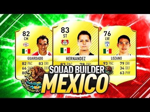 FIFA 17 | LA MEJOR PLANTILLA DE MEXICO !! SQUAD BUILDER BARATA | ErnesInGame