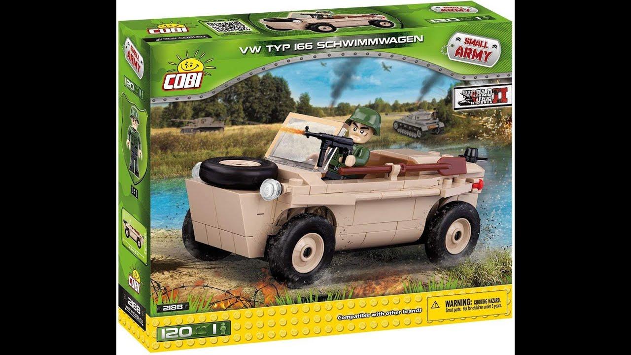 WWII Kübelwagen Volkswagen Militär Wehrmacht VW 166 Schwimmwagen COBI 2188