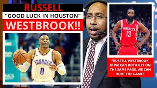 Russell Westbrook (Houston Rockets) Two Ball Hogs In Houston? First Take Stephen/Max [Commentary]