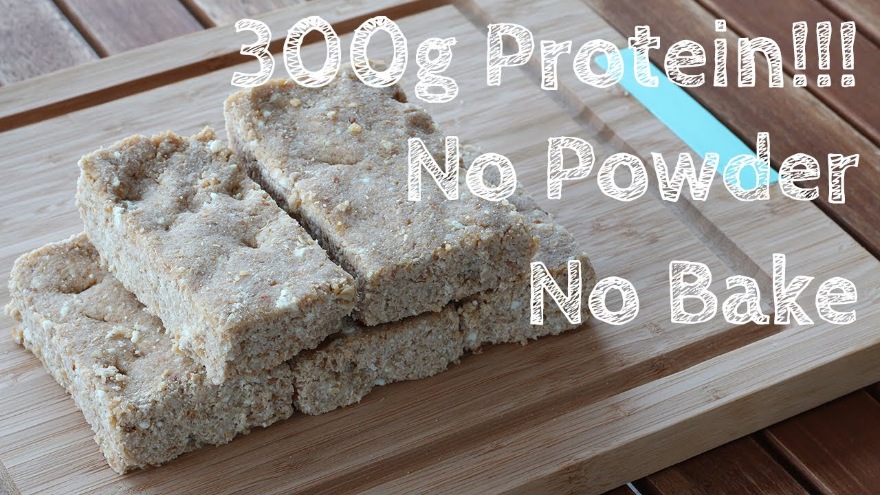 Homemade Protein Bar Without Powder! (For Bulking)   YouTube