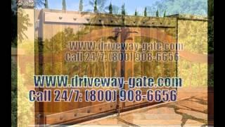 Driveway-wood-gates !! Call 24/7: (800) 908-6656