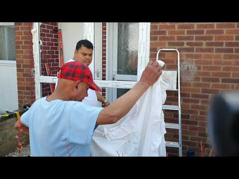 Installing A New Double Glazed Door And Side Panel Upvc