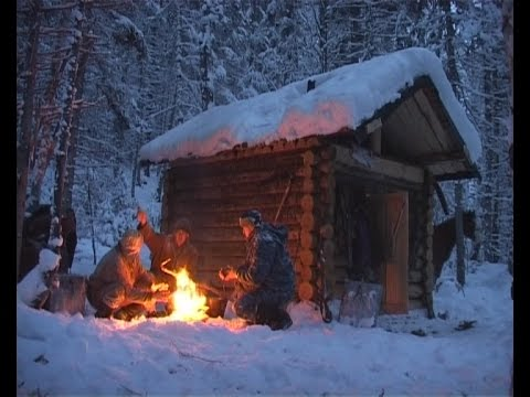 Russia. Hunting in Prebaikale. A bears den.