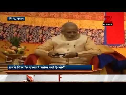 PM Narendra Modi talks of 'B2B' ties in Bhutan