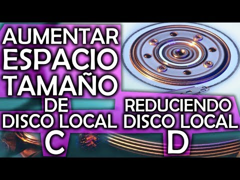 CÓMO AUMENTAR EL TAMAÑO DEL DISCO LOCAL C REDUCIENDO EL D PARA WINDOWS 10, 8, 7, VISTA Y XP