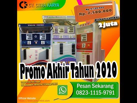 Tahap Pengetesan Mesin Pom Mini CITRA KARYA 3 Nozzle Portable