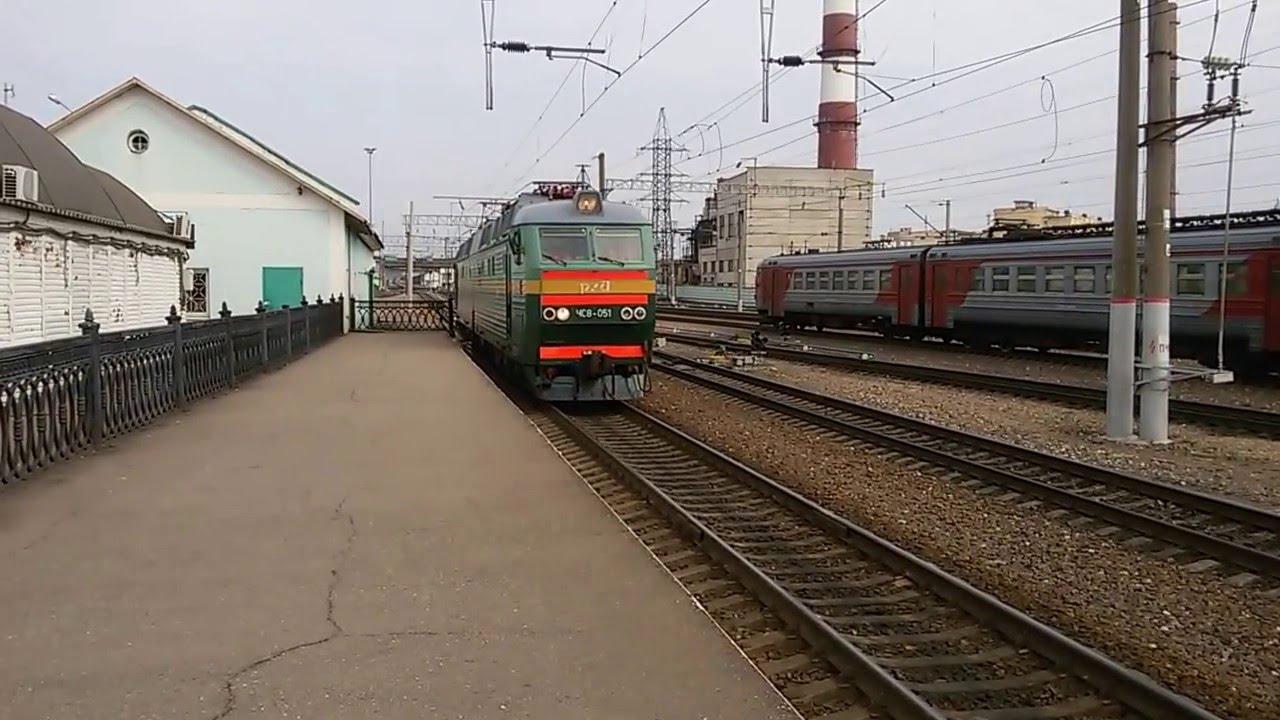 ЧС8-051 прицепляется к поезду №88 Смоленск - Санкт ...