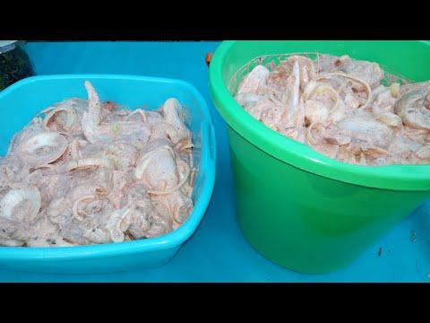 Как замариновать курицу для шашлыка. Очень вкусно получается