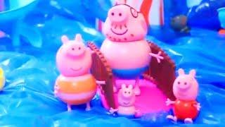 Мультфильм игрушками Свинка Пеппа Свинка Pig Отдых в аквапарке