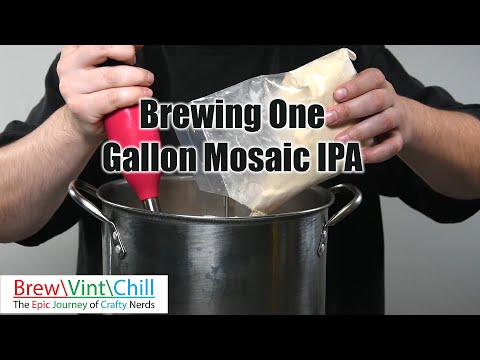 Brewing One Gallon Mosaic IPA Brewers Best