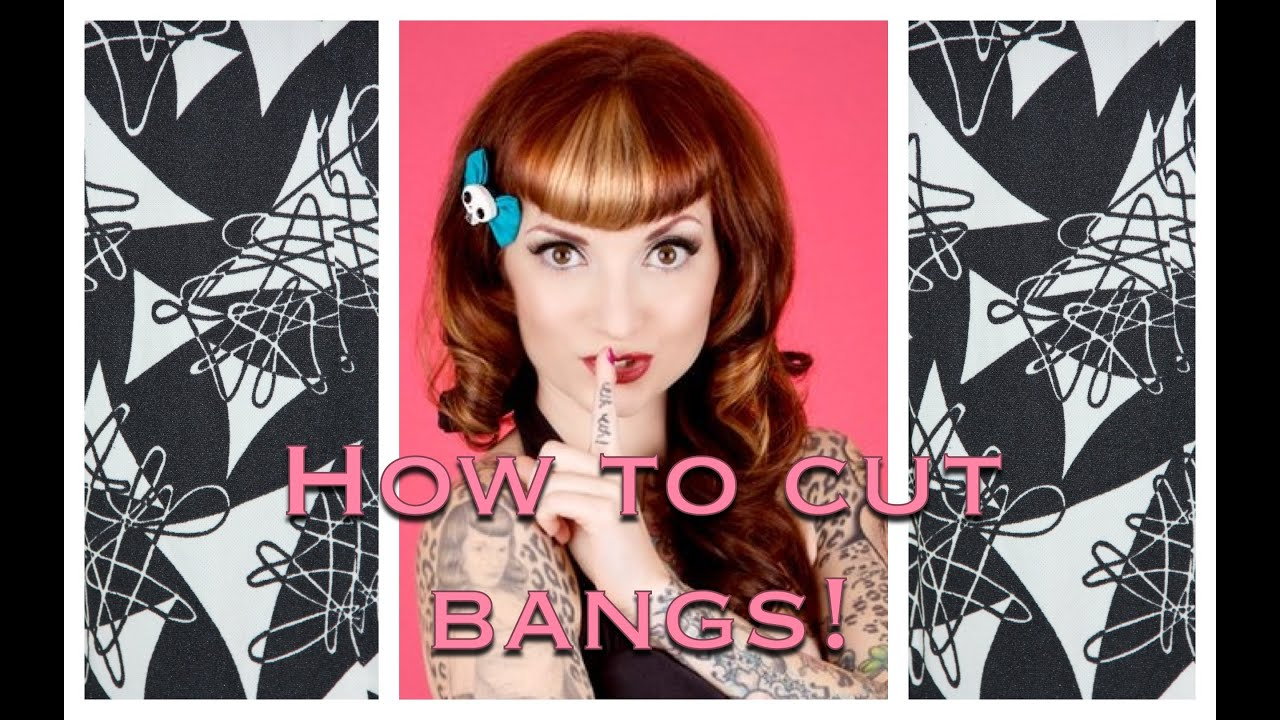 How To Cut Vintage Bangs Amp Betty Bangs Using Clippers By