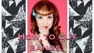 how to cut vintage bangs betty bangs using clippers by cherry dollface