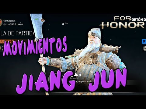 MOVIMIENTOS DEL JIANG JUN | FOR HONOR MARCHING FIRE TEST | Español
