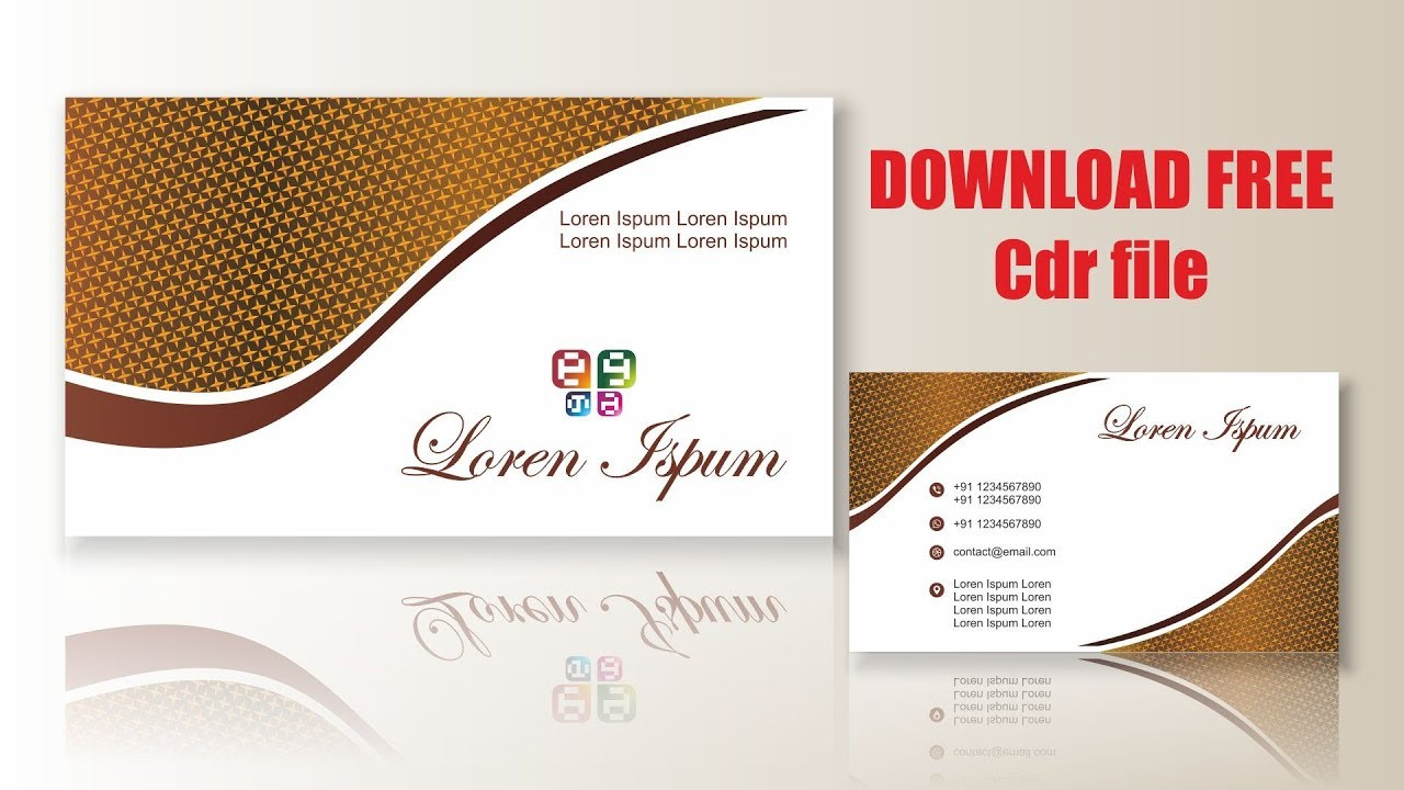 Visiting Card Design Cdtfb Corel Draw In Hindi Urdu