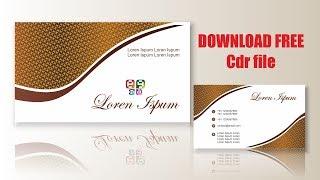 visiting card design   cdtfb   corel draw in hindi, urdu