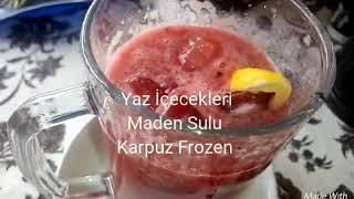 Karpuz Frozen ( Maden Sulu, Muzlu )