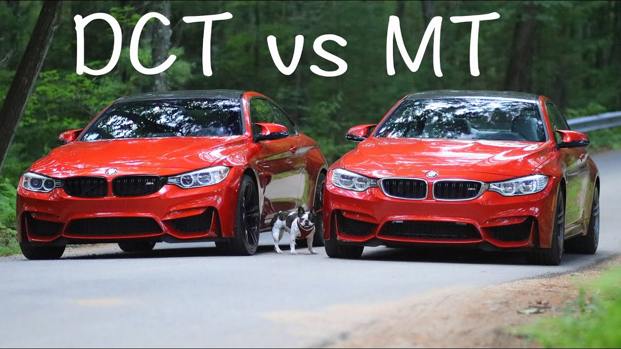 dual clutch vs manual transmission dct vs mt bmw m4 m3 [ 1280 x 720 Pixel ]