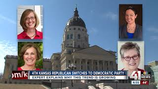 Another Kansas Republican switches to Democratic party