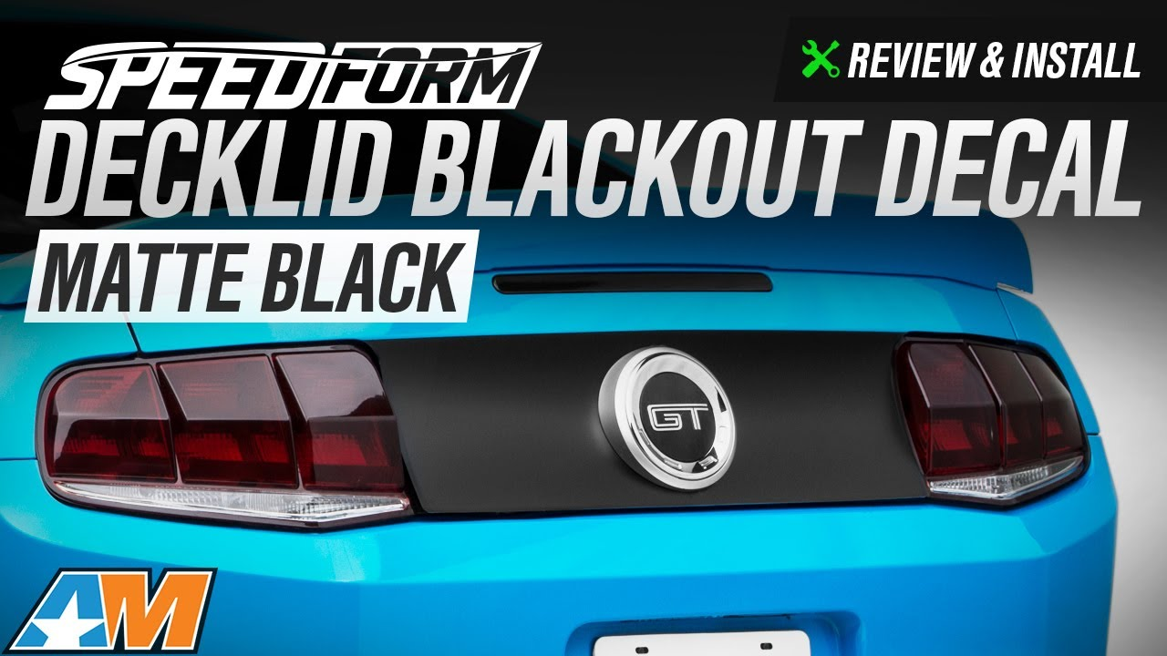 2010 2014 Mustang Speedform Decklid Blackout Decal Review Install