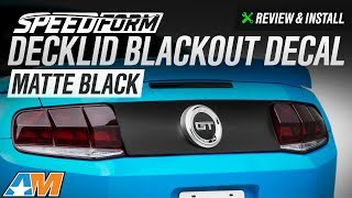 2010-2014 Mustang SpeedForm Decklid Blackout Decal Review & Install