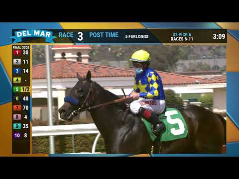 Freedom Fighter wins race 3 at Del Mar 8/1/20