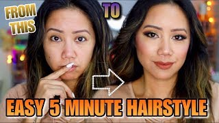 EASY 5 Minute Hairstyle! How To Easy Hairstyle - Easy Hairstyle!