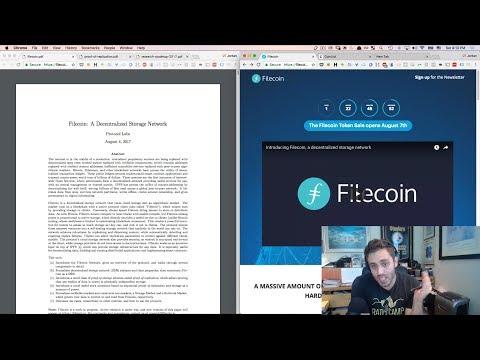 Filecoin | White Paper Breakdown and Token Sale Analysis