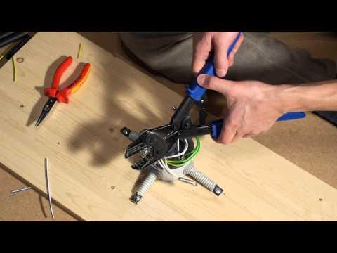 Монтаж распаечной коробки опрессовкой - полный цикл