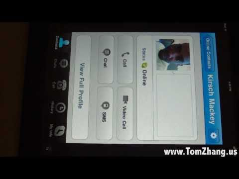 How to Skype and Video Conference on iPad  iPad 2  iPhone  iPod Touch HD