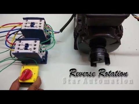 Tutorial 1 basic push start stop contactor kontrol ko for Forward reverse motor starter