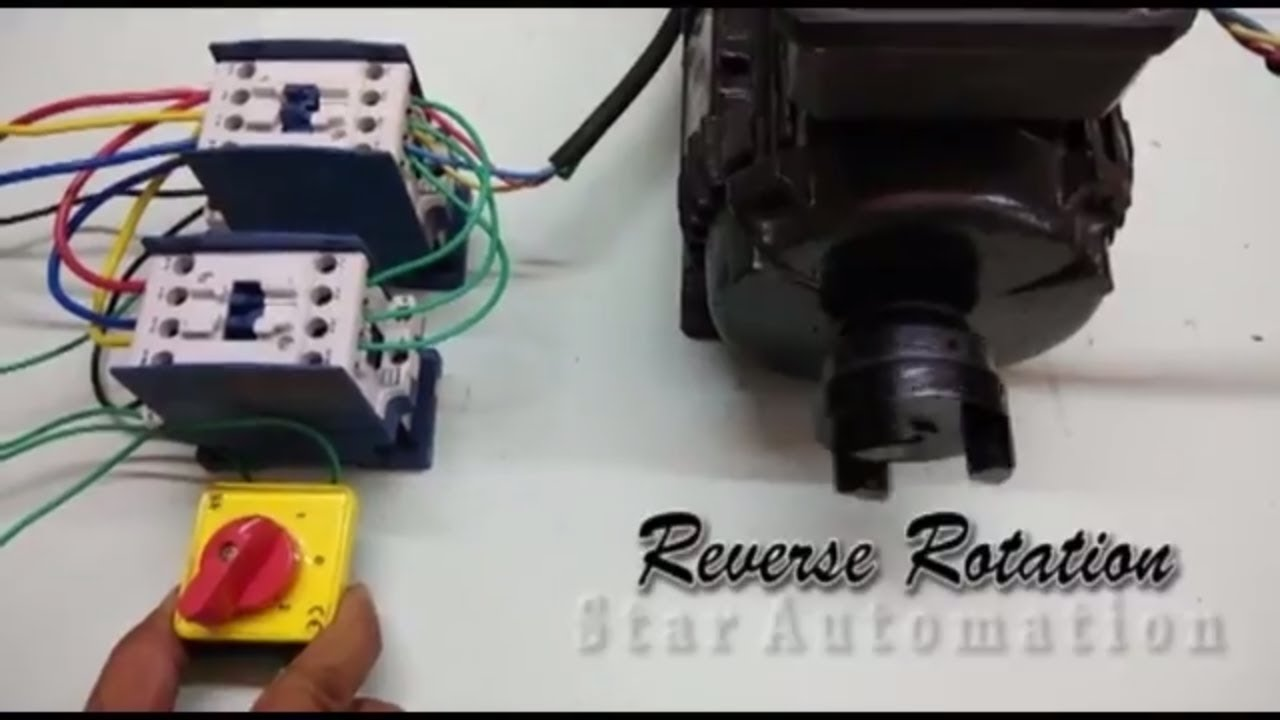 wiring of reverse forward motor starter [ 1280 x 720 Pixel ]