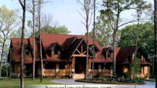 Log Cabin Houses Video 2 | House Plans And More