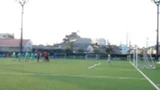 神奈川県2部 順位決定戦 23分、美蹴団のPK。1-1同点になる。