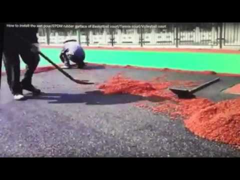 Installation for EPDM Rubber Surface of Sports Flooring