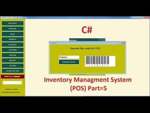 C# Tutorial Barcode Generate Inventory Management System (POS) Part-5