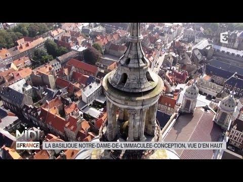 VUE D'EN HAUT : La basilique Notre-Dame-de-l'Immaculée-Conception de Boulogne-sur-Mer