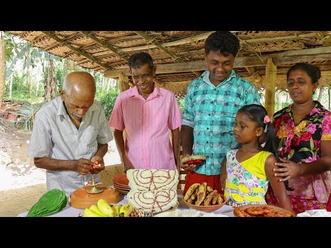 Our traditional New Year customs. ( Sinhala&hindu New Year)village kitchen recipe  Sri Lanka cooking