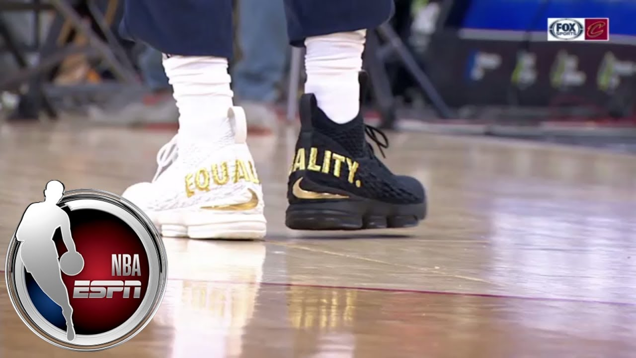 3dca4d9e63ad LeBron James wears  equality  shoes for Cavaliers-Wizards