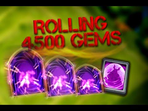 Castle Clash Gem Rolling And Legendary Hero Card