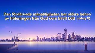 Den fördärvade mänskligheten har större behov av frälsningen från Gud som blivit kött (utdrag 3)