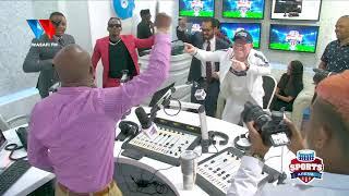 TAZAMA DIAMOND PLATNUMZ ALIVYOICHEZA NGOMA YA SIMBA NA MO DEWJI STUDIO ZA WASAFI FM