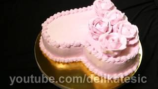 трафарет на торт сердце | очень просто сделать