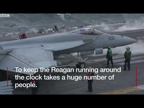 US displays military might near Korea   BBC News