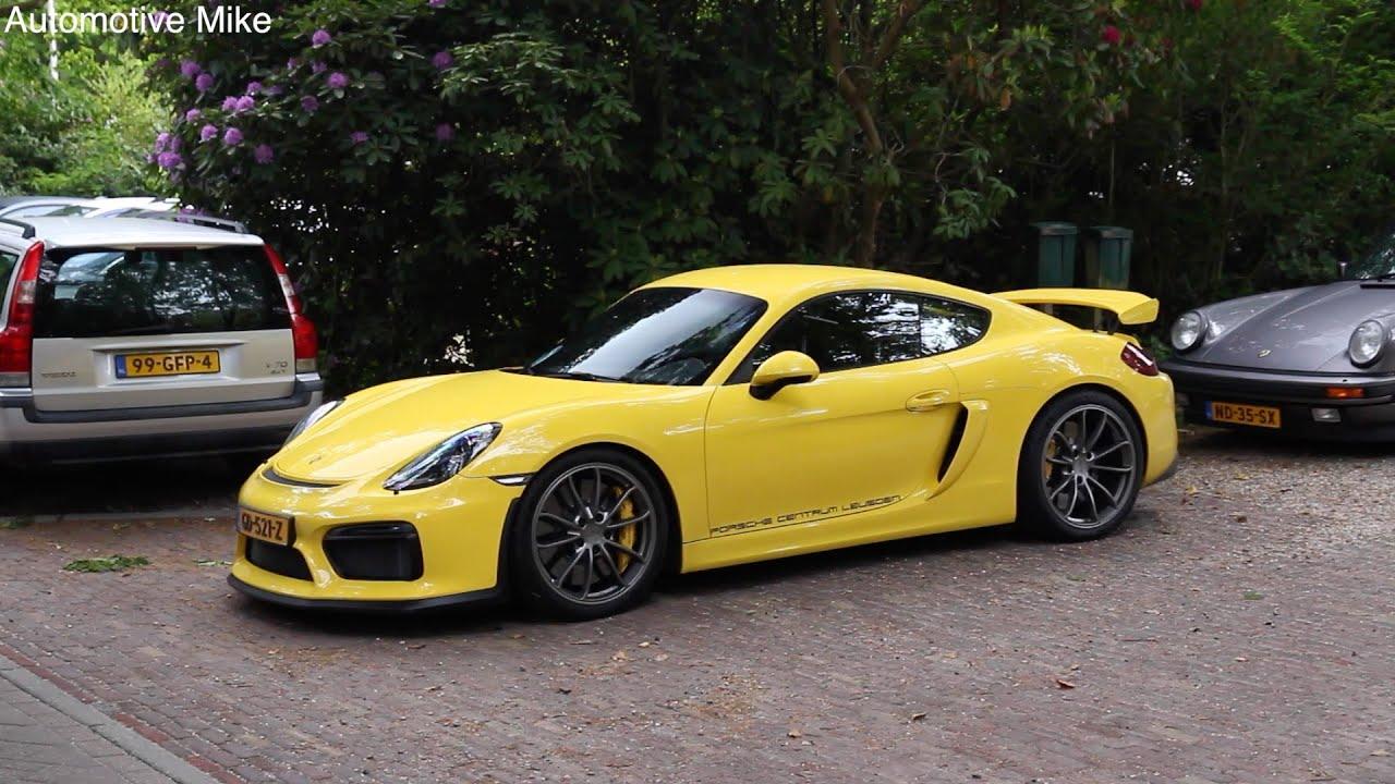 Yellow Porsche Cayman GT4 - YouTube