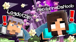 noob Girl RAIDS End City Dungeon in Minecraft...