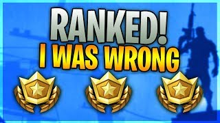 I WAS WRONG ABOUT RANKED!
